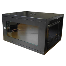 6U Lockable Data Cabinet Black